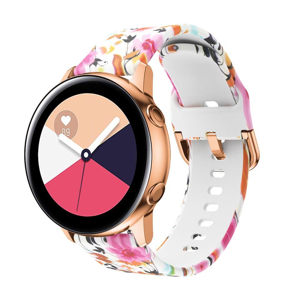 Silikonarmbånd Galaxy Watch 42mm/Active blommor