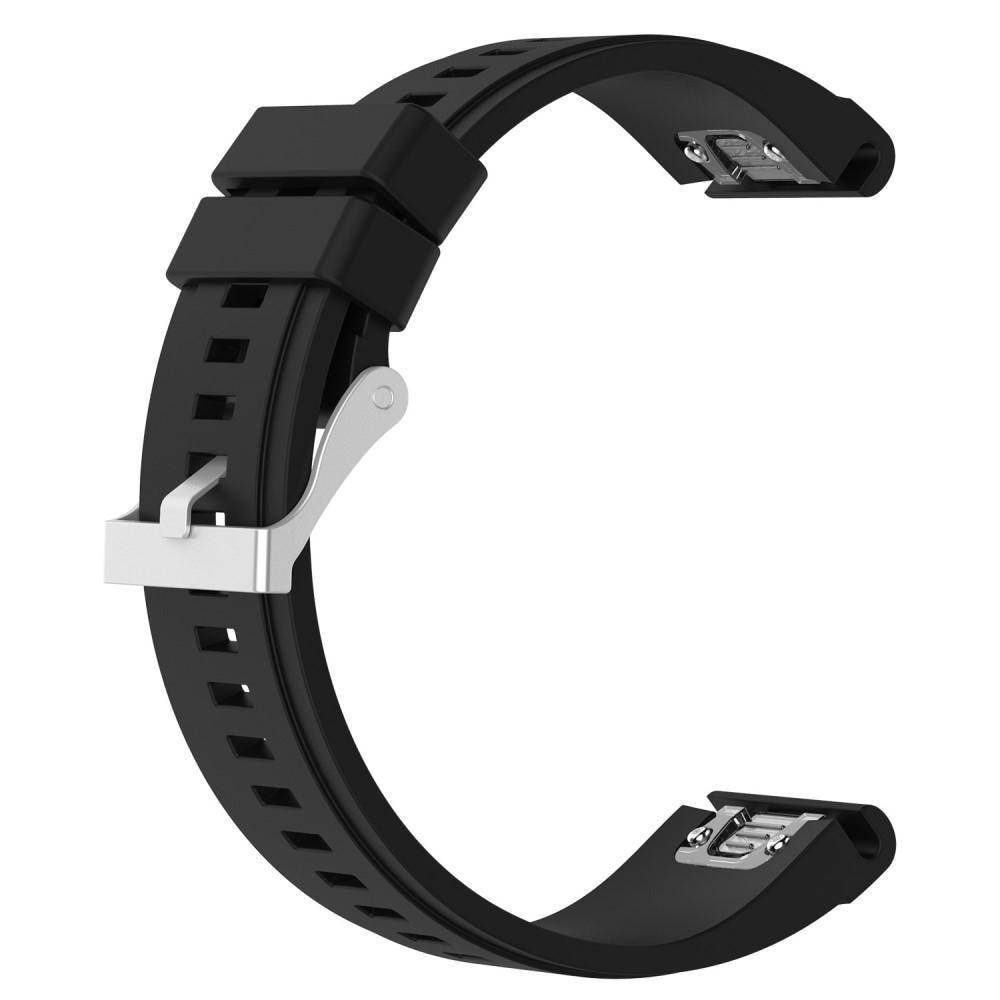 Silikonarmbånd Garmin Fenix 3/3 HR/5X/5X Plus svart