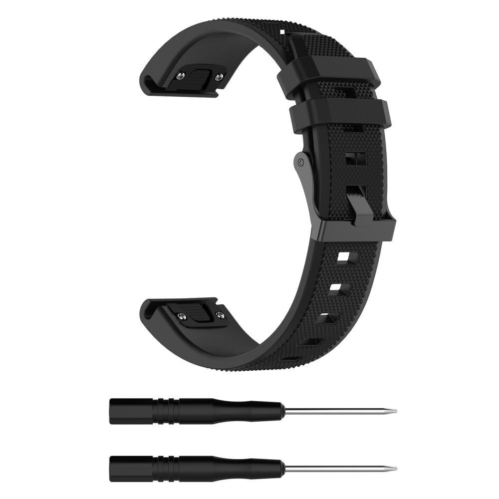 Silikonarmbånd Garmin Fenix 5/5 Plus svart