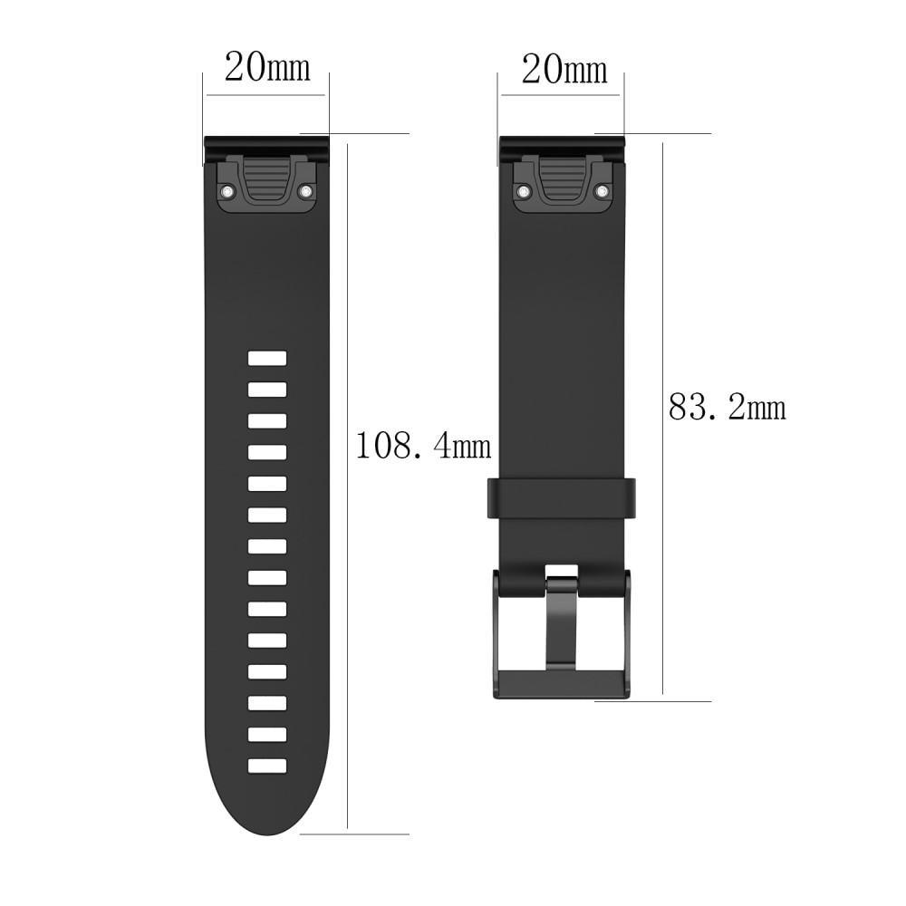 Silikonarmbånd Garmin Fenix 5S/5S Plus svart