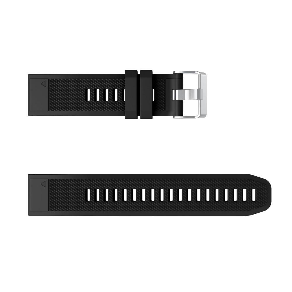 Silikonarmbånd Garmin Fenix 6/6 Pro svart