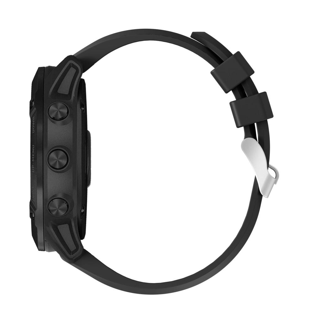 Silikonarmbånd Garmin Fenix 6X/6X Pro svart