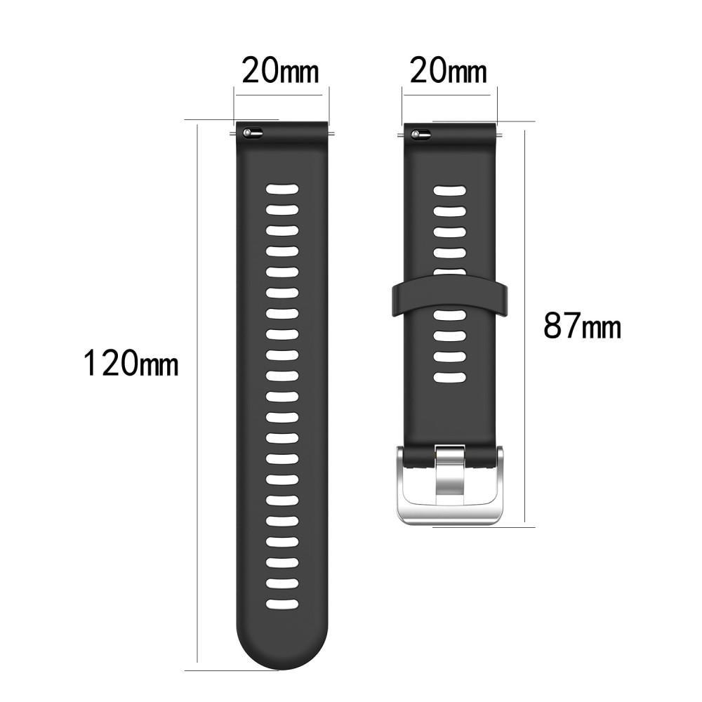 Silikonarmbånd Garmin Forerunner 245 svart