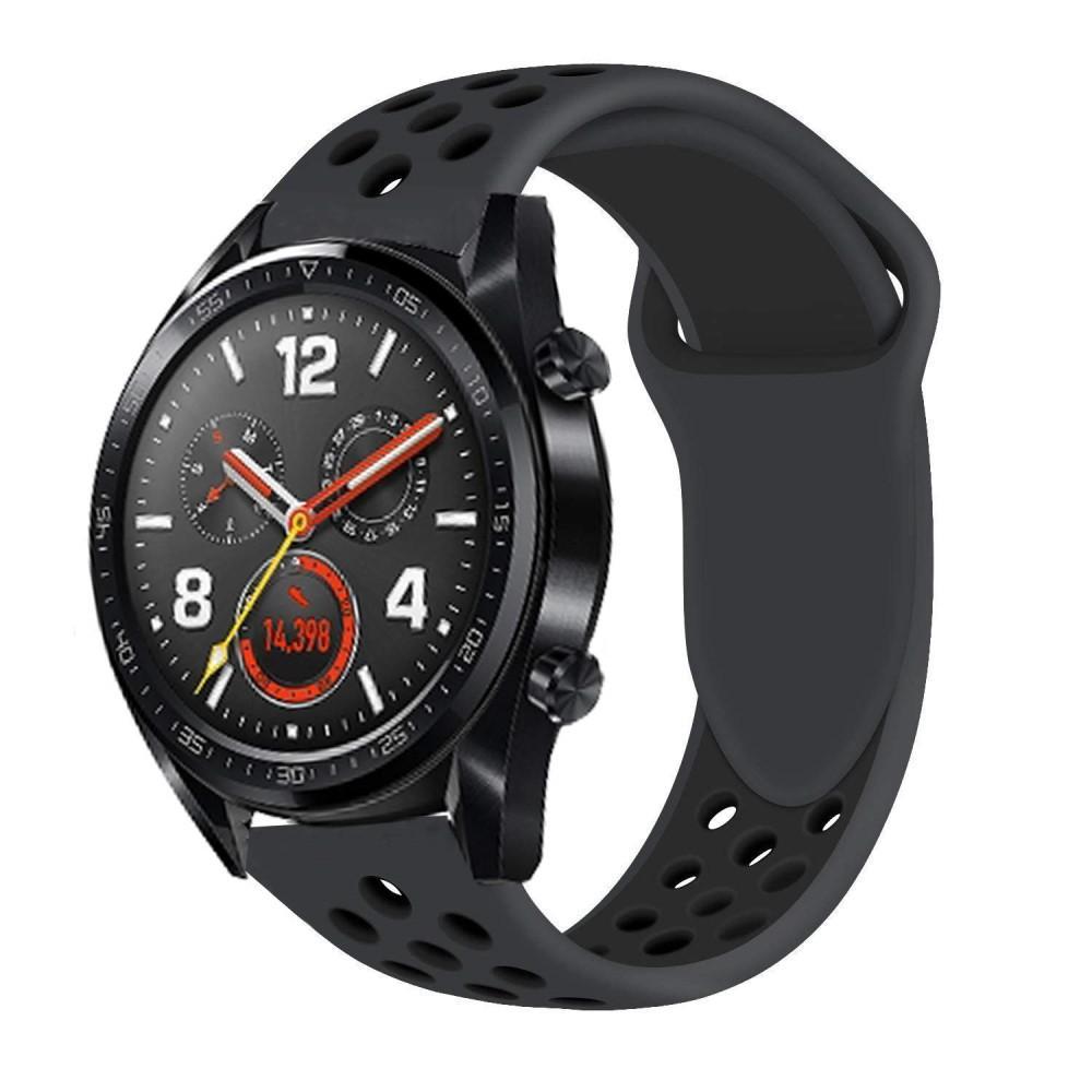 Silikonarmbånd Huawei Watch GT/GT 2 46mm/GT 2 Pro svart