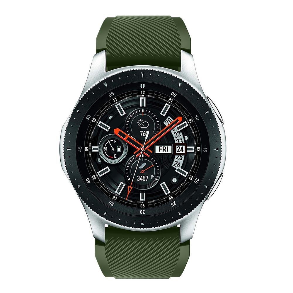 Silikonarmbånd Samsung Galaxy Watch 46mm/45mm grønn