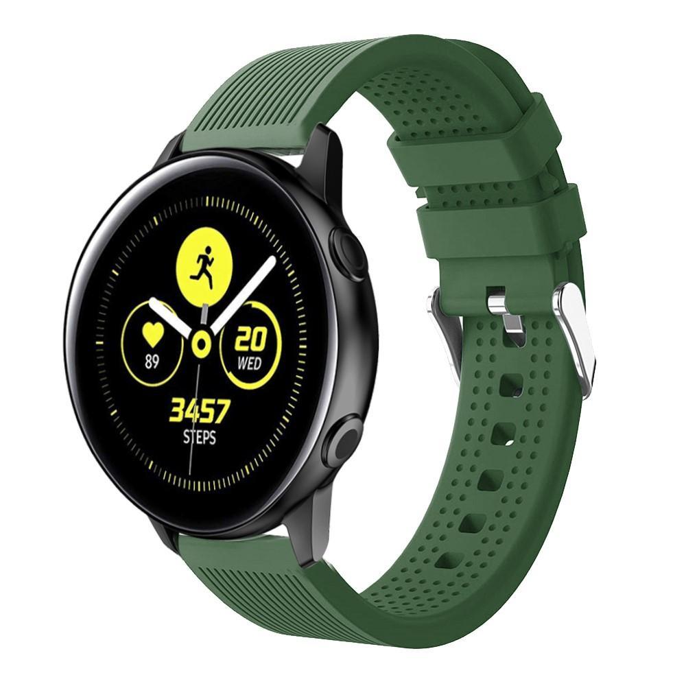 Silikonarmbånd Samsung Galaxy Watch Active/41mm/42mm grønn