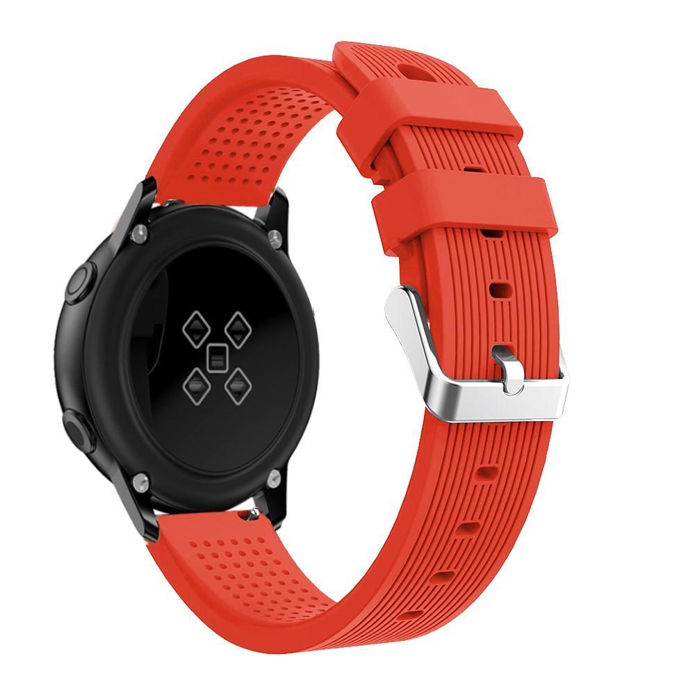 Silikonarmbånd Samsung Galaxy Watch Active/41mm/42mm rød