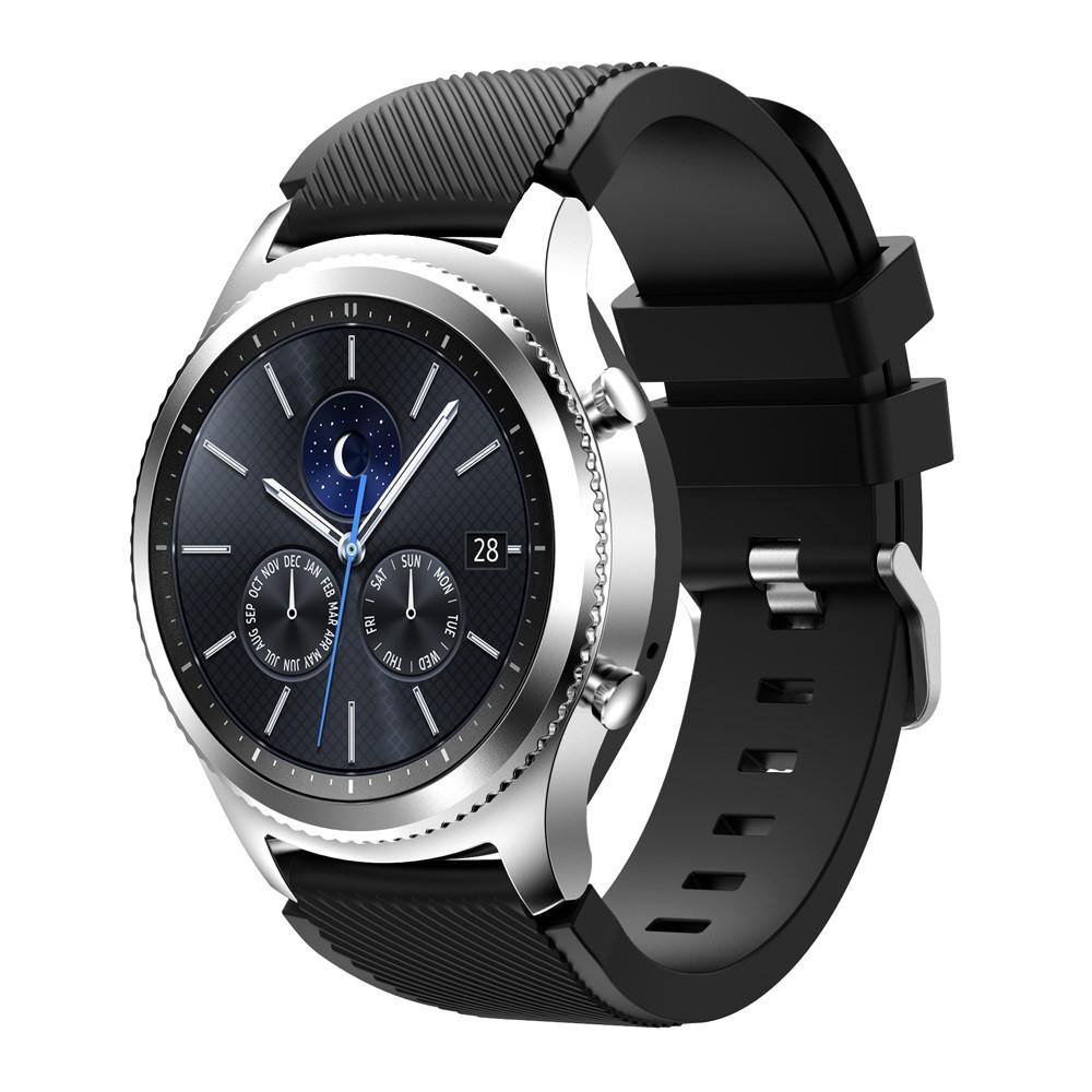 Silikonarmbånd Samsung Gear S3 Classic/S3 Frontier svart