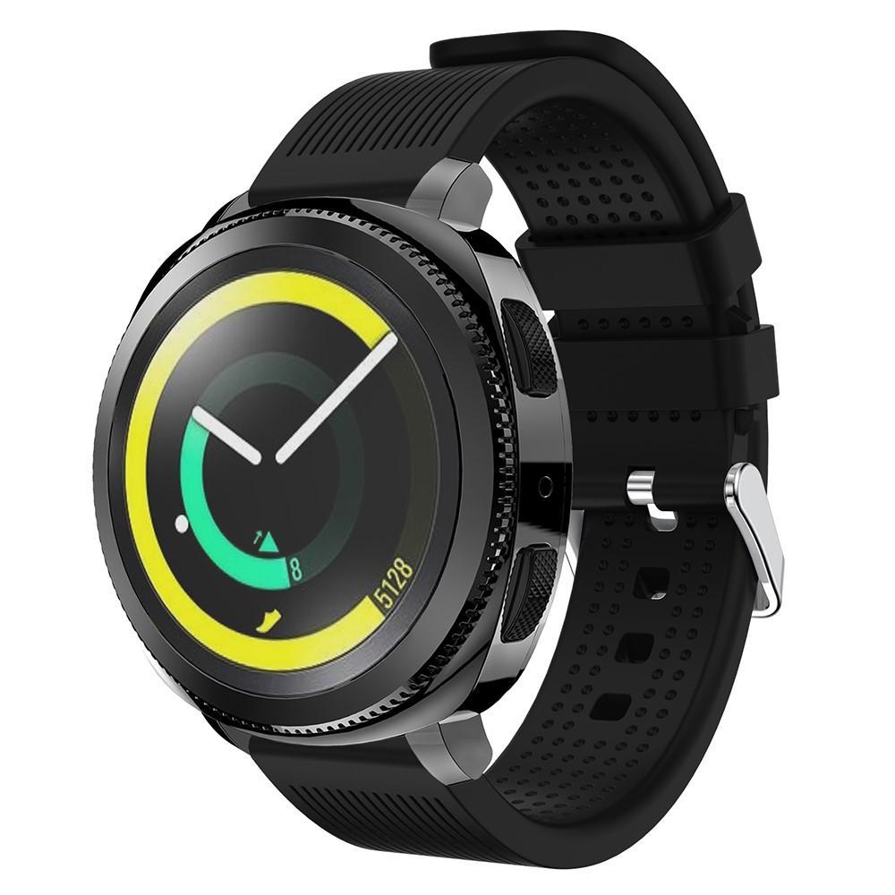 Silikonarmbånd Samsung Gear Sport svart