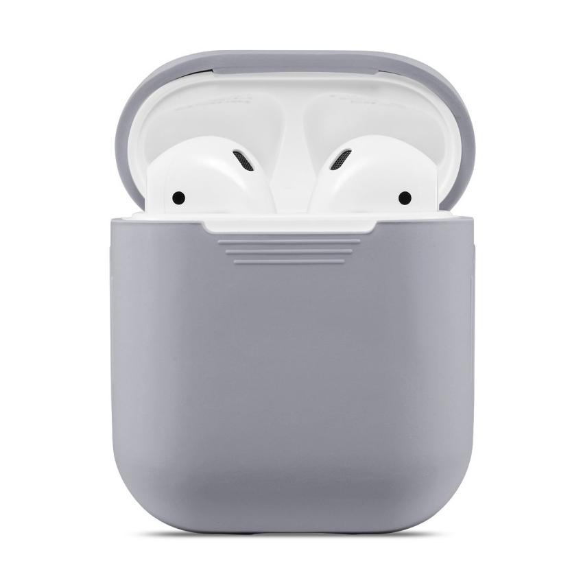 Silikondeksel Apple AirPods grå