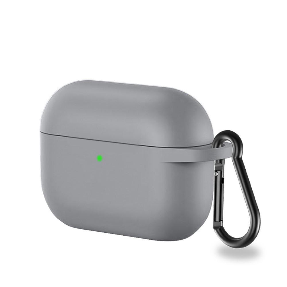 Silikondeksel med karabinkrok Apple AirPods Pro grå