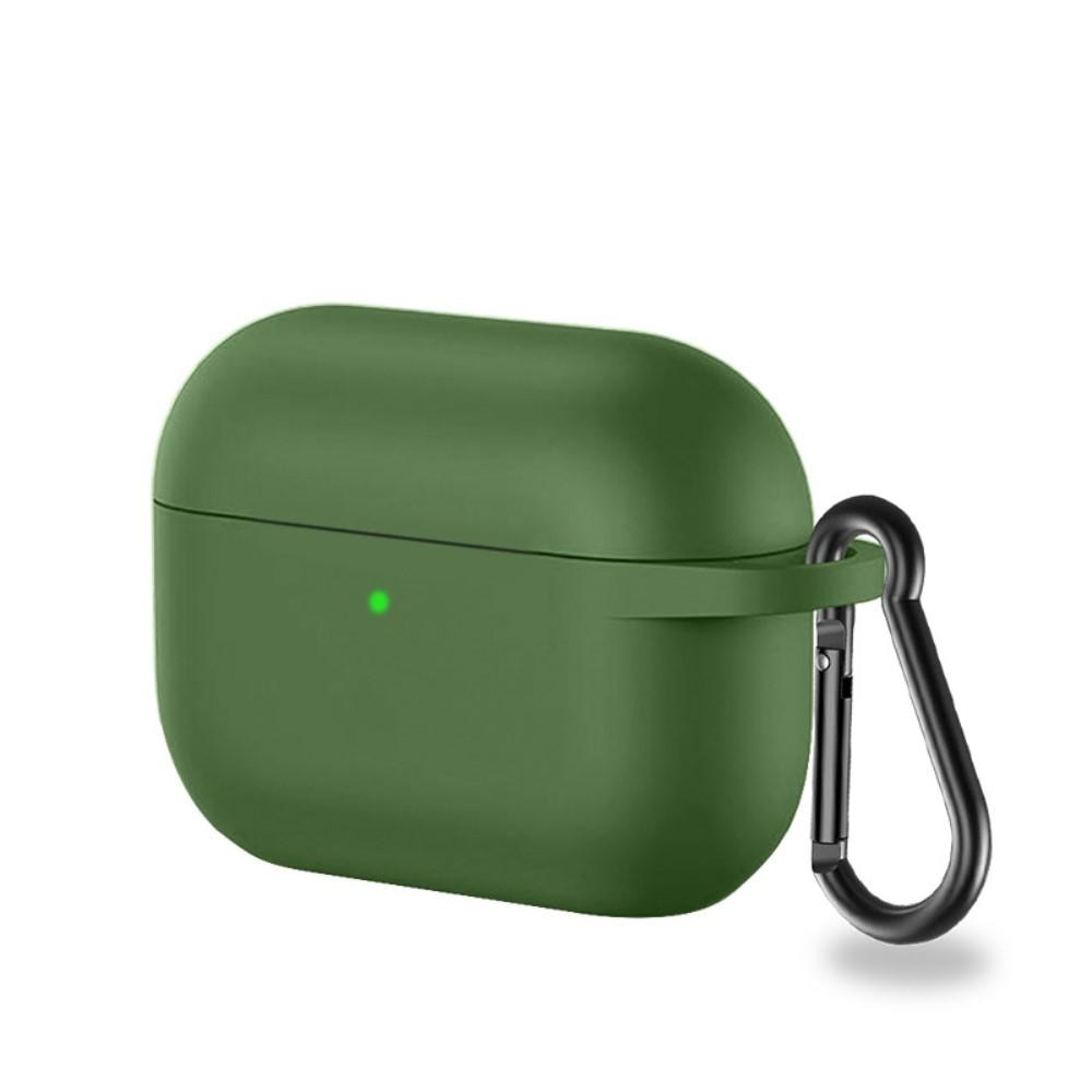 Silikondeksel med karabinkrok Apple AirPods Pro grønn