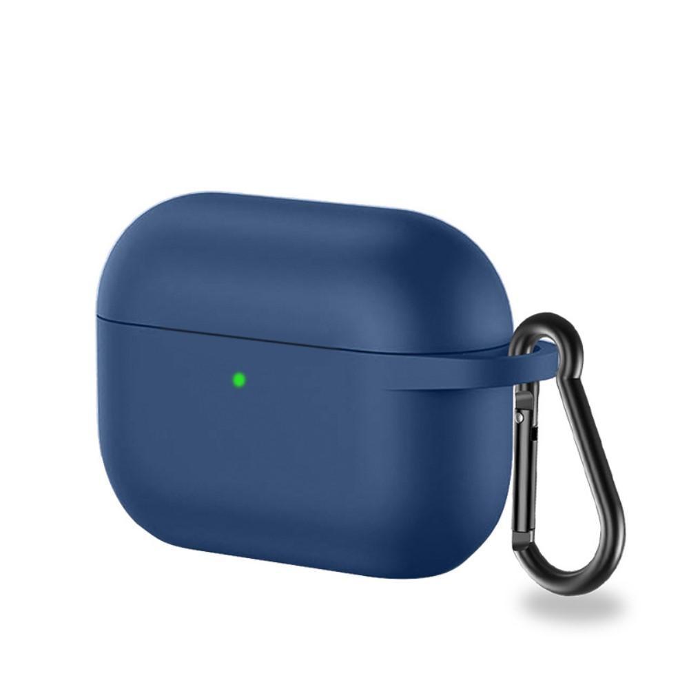 Silikondeksel med karabinkrok Apple AirPods Pro marineblå