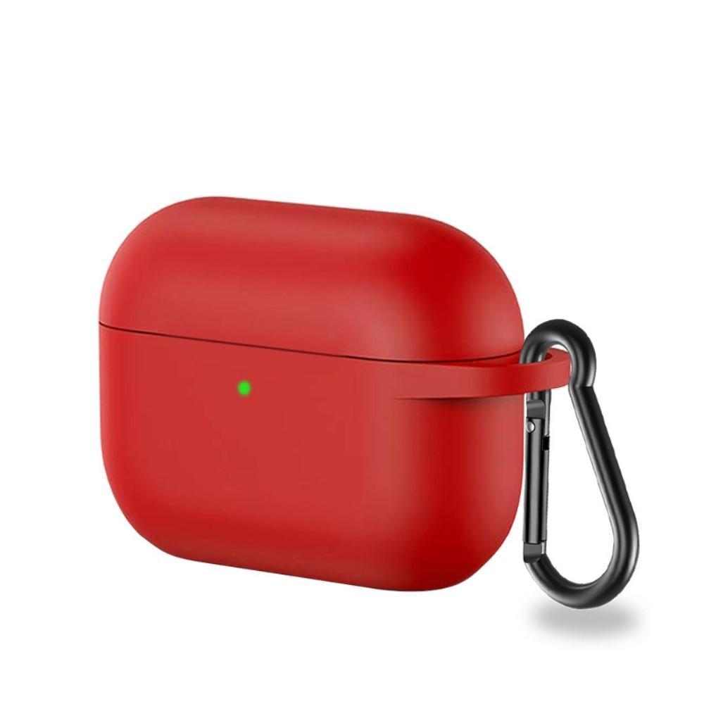 Silikondeksel med karabinkrok Apple AirPods Pro rød
