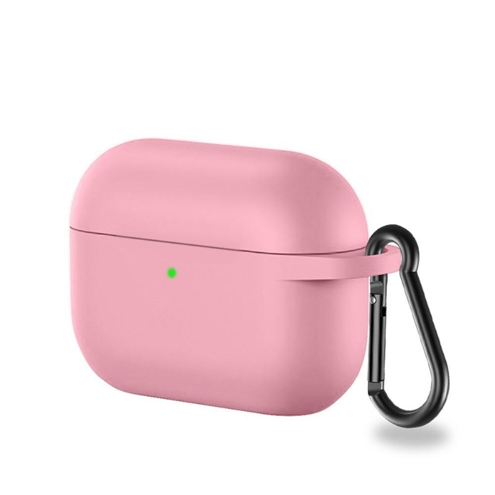 Silikondeksel med karabinkrok Apple AirPods Pro rosa