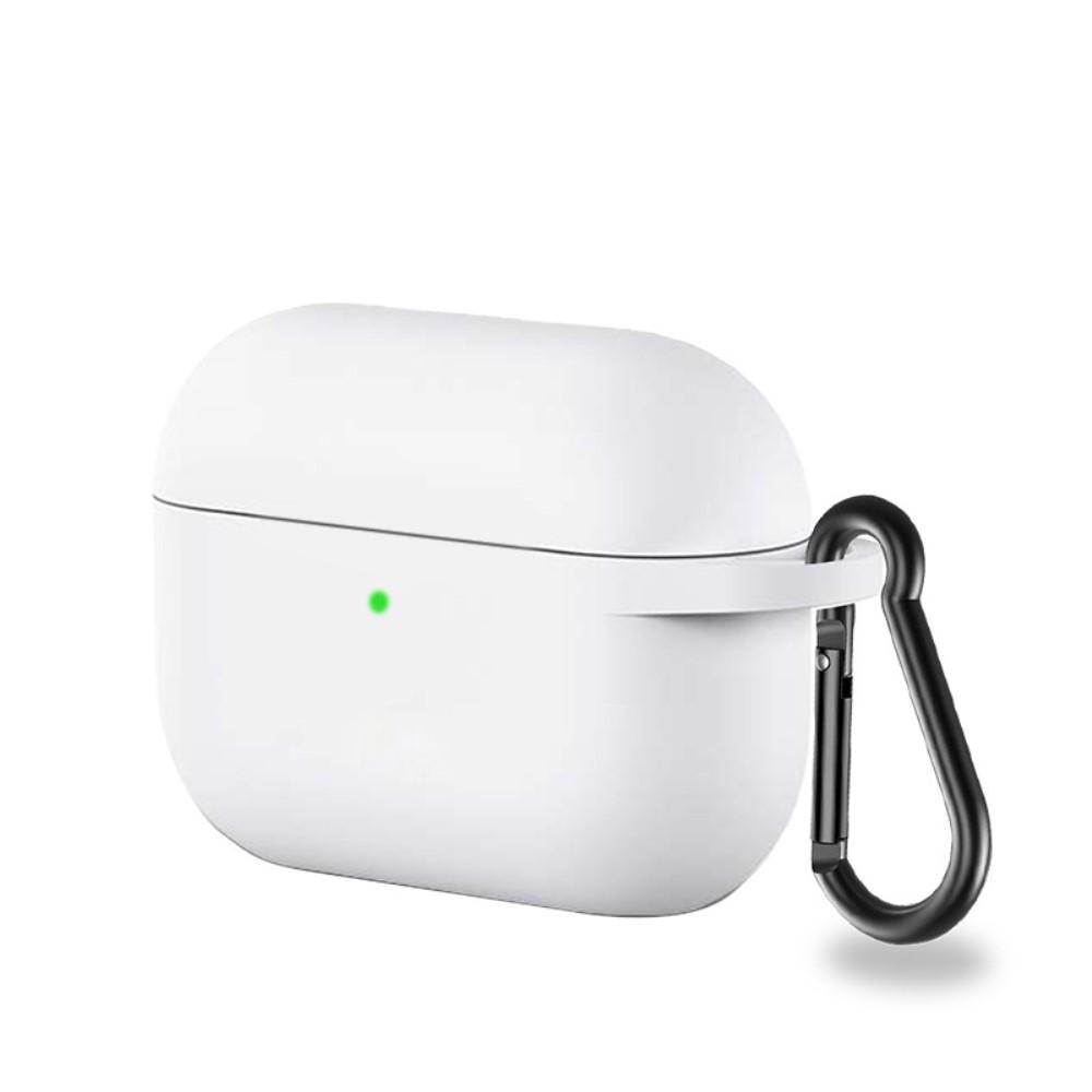Silikondeksel med karabinkrok Apple AirPods Pro hvit