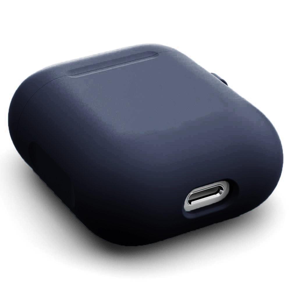 Silikondeksel med karabinkrok Apple AirPods marineblå