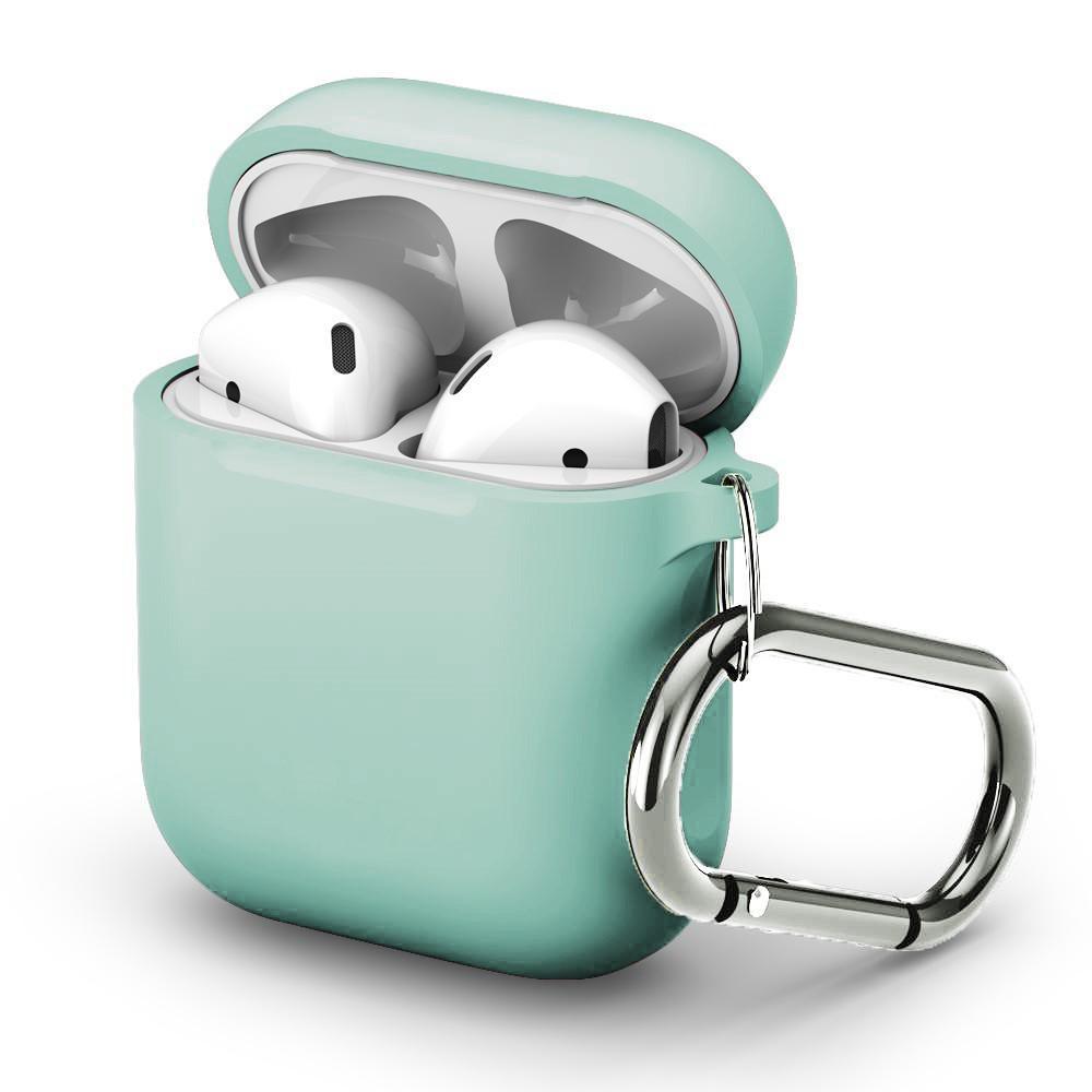 Silikondeksel med karabinkrok Apple AirPods turkis