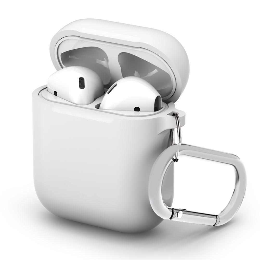 Silikondeksel med karabinkrok Apple AirPods hvit