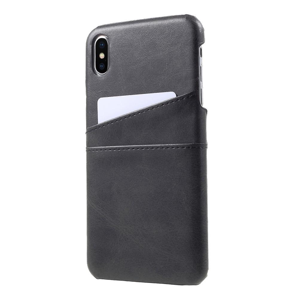 Card Slots Case Apple iPhone XS Max svart