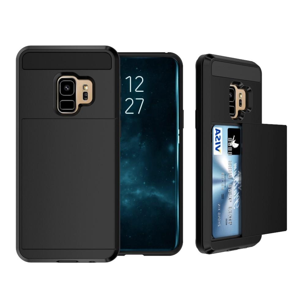 Deksel Kortholder Samsung Galaxy S9 Plus svart