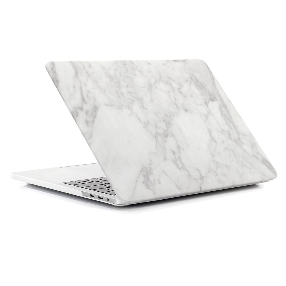 Deksel MacBook Air 13 2018/2019/2020 vit marmor