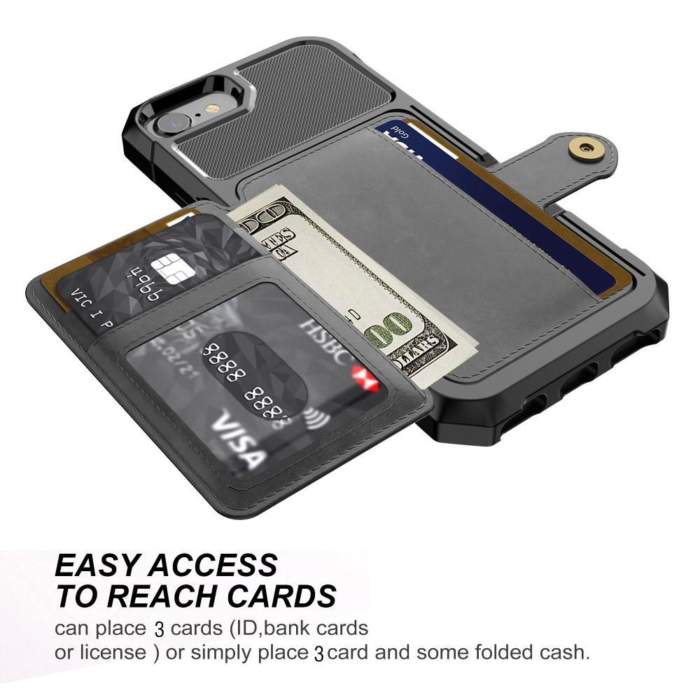 Tough Multi-slot Case iPhone 6/6S/7/8/SE 2020 svart