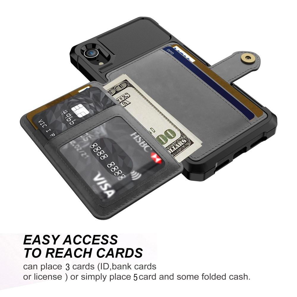 Tough Multi-slot Case iPhone XR svart
