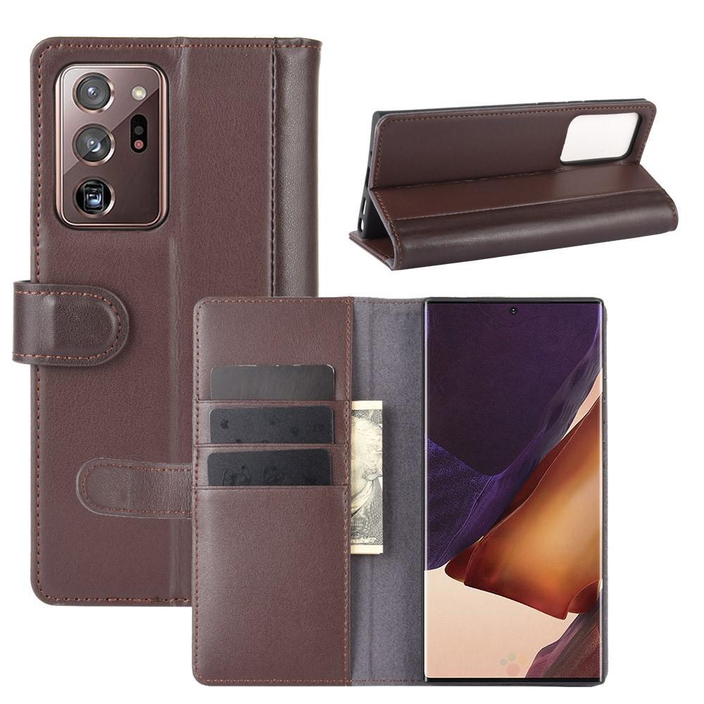 Ekte Lærveske Samsung Galaxy Note 20 brun