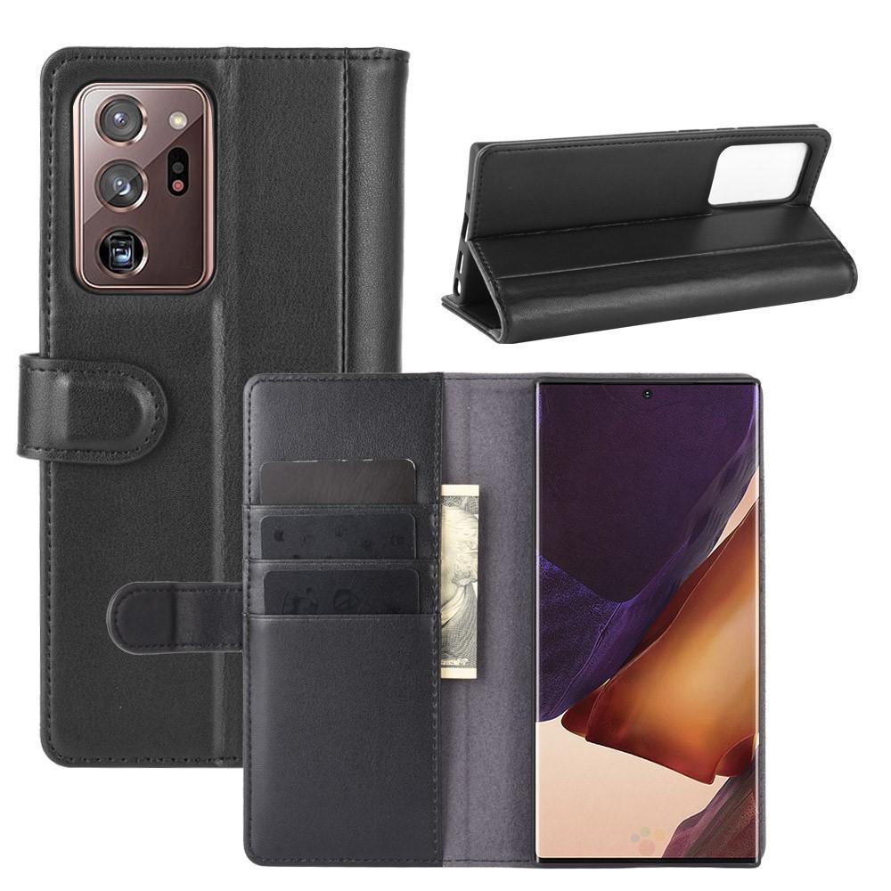 Ekte Lærveske Samsung Galaxy Note 20 Ultra svart