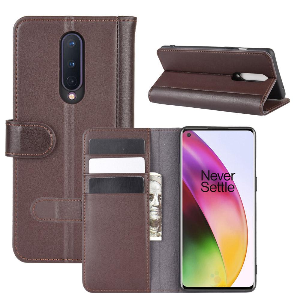 Ekte Lærveske OnePlus 8 brun