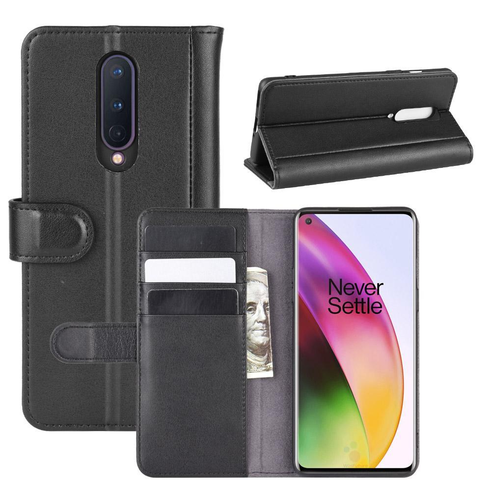 Ekte Lærveske OnePlus 8 svart