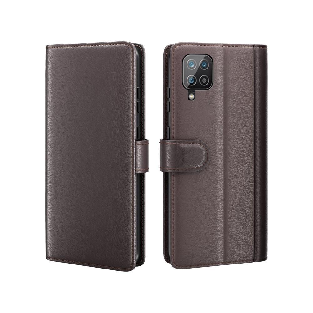Ekte Lærveske Samsung Galaxy A12 brun