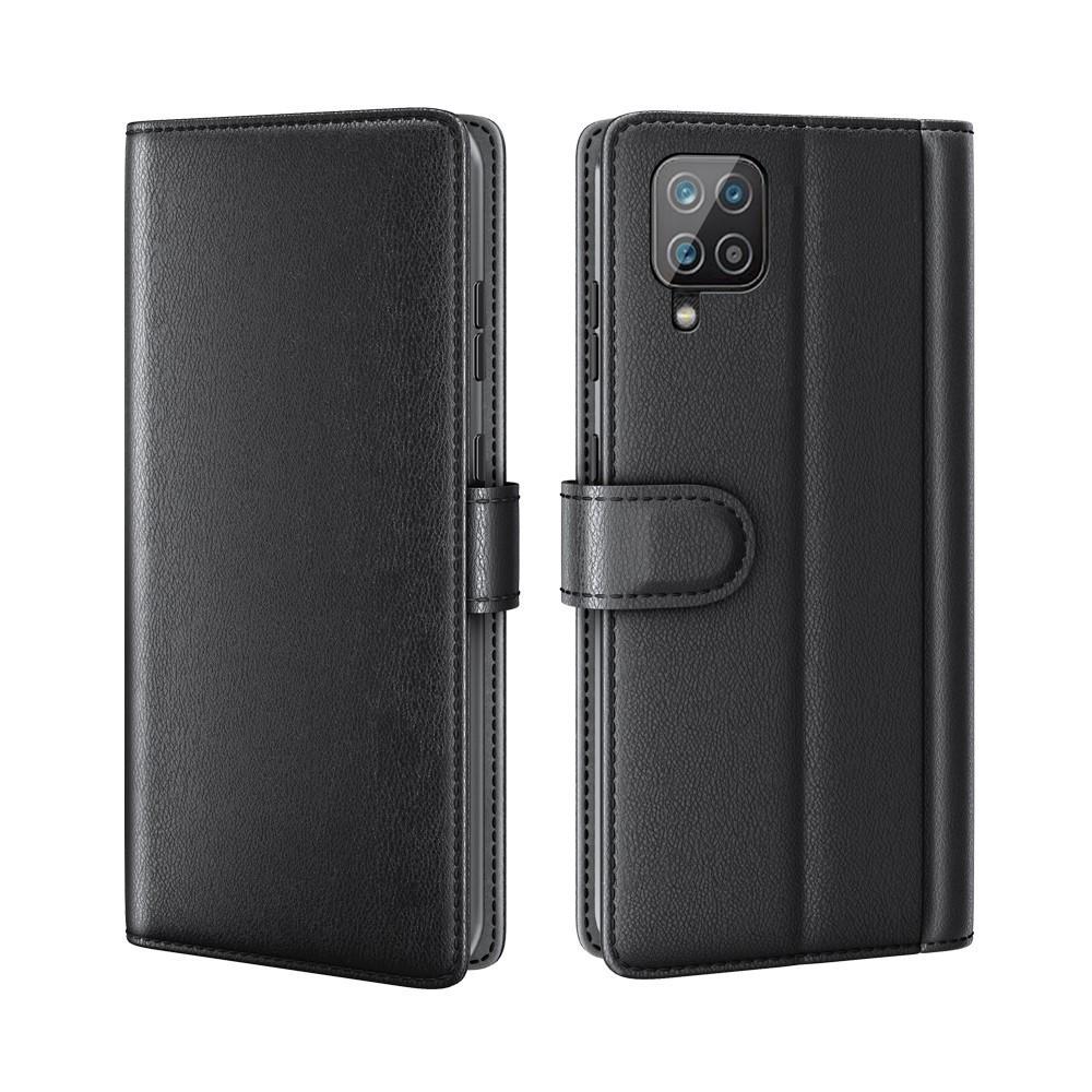 Ekte Lærveske Samsung Galaxy A12 svart