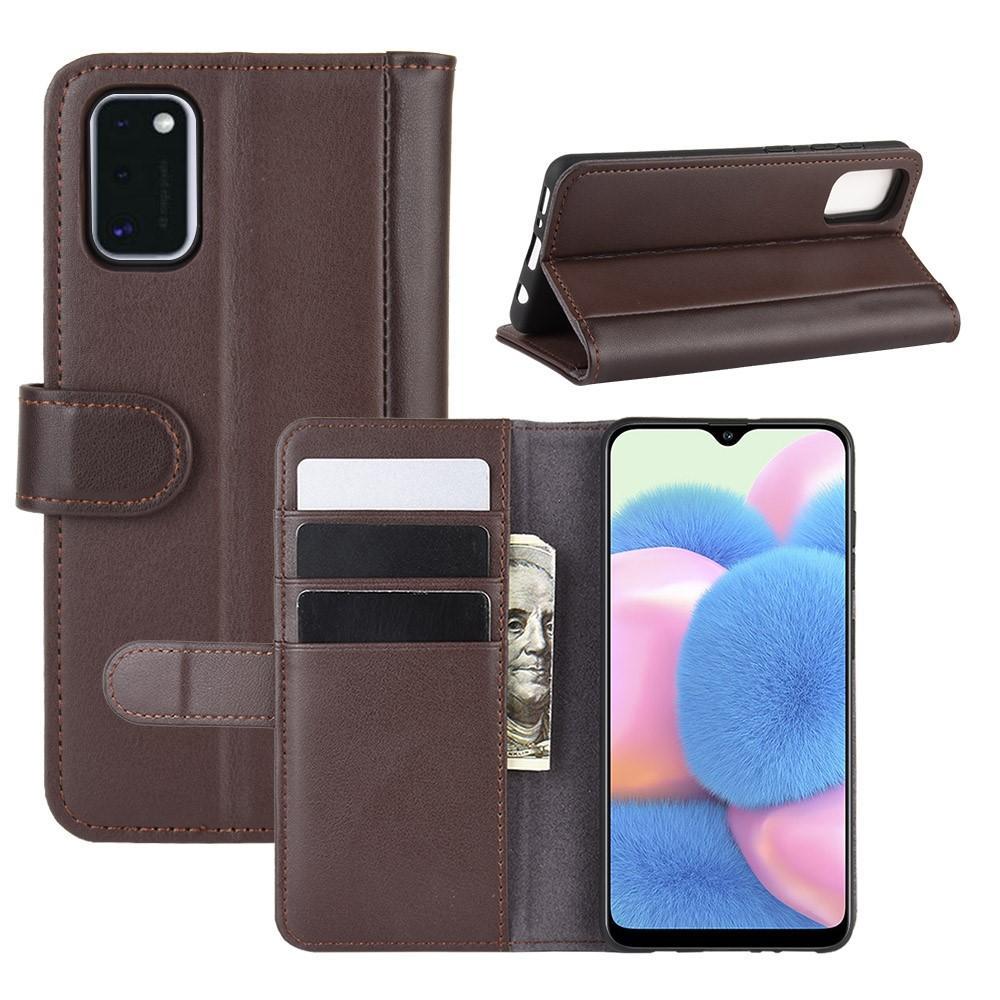 Ekte Lærveske Samsung Galaxy A41 brun