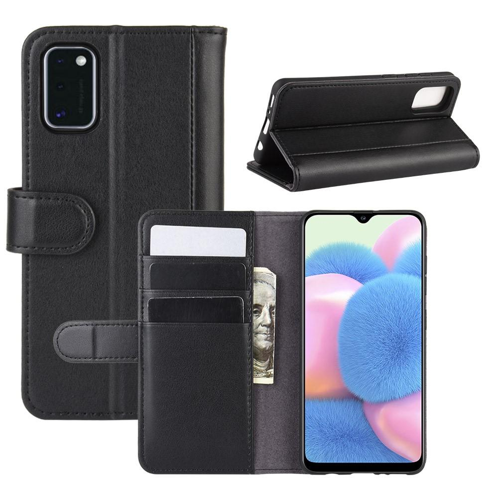 Ekte Lærveske Samsung Galaxy A41 svart