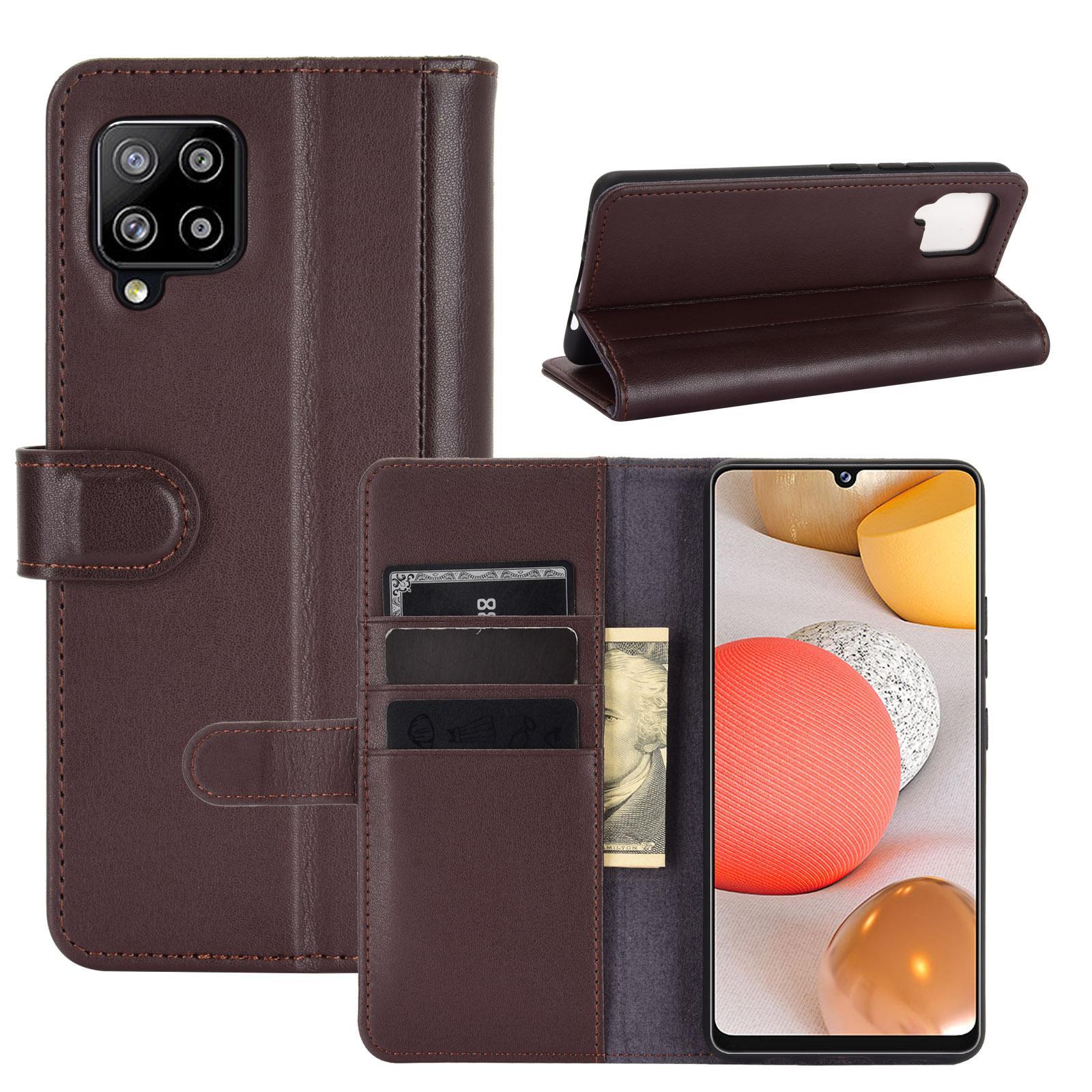 Ekte Lærveske Samsung Galaxy A42 5G brun