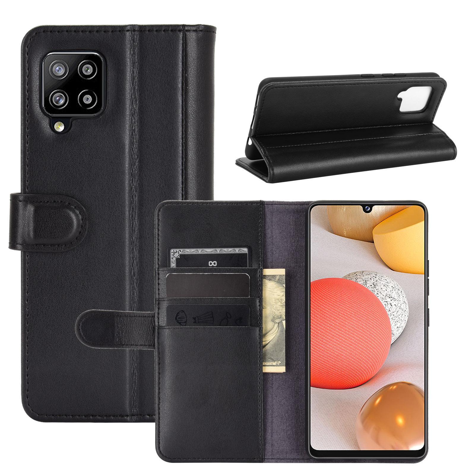 Ekte Lærveske Samsung Galaxy A42 5G svart