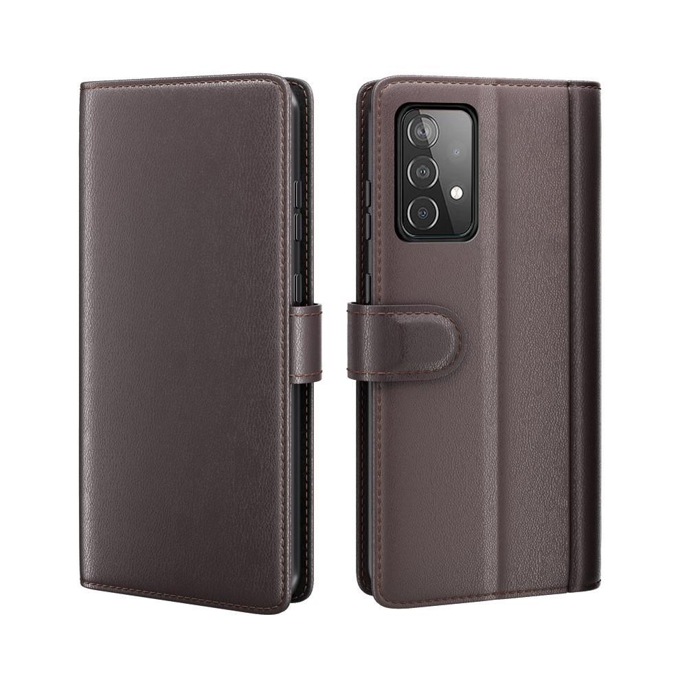 Ekte Lærveske Samsung Galaxy A52 5G brun