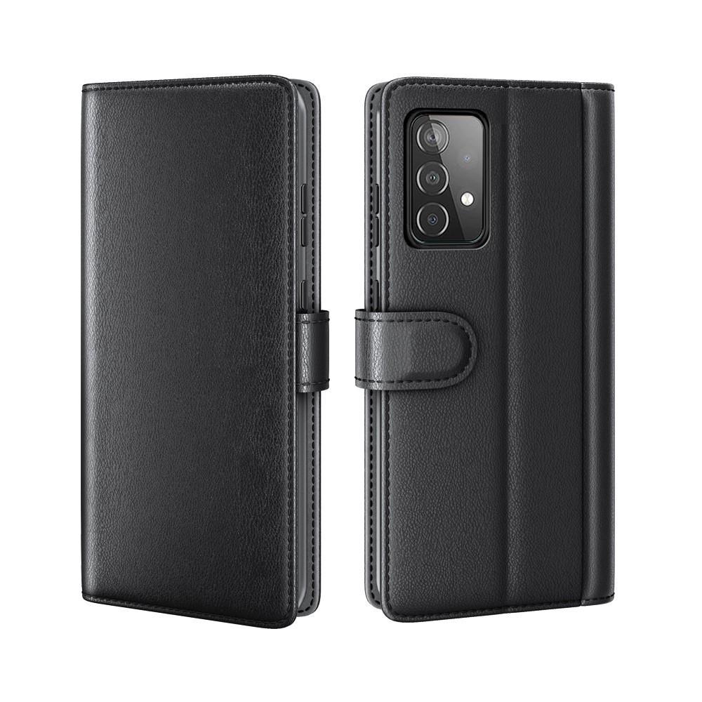 Ekte Lærveske Samsung Galaxy A52/A52s svart