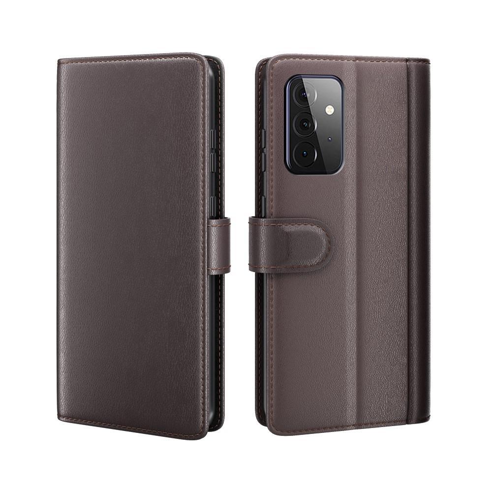 Ekte Lærveske Samsung Galaxy A72 5G brun