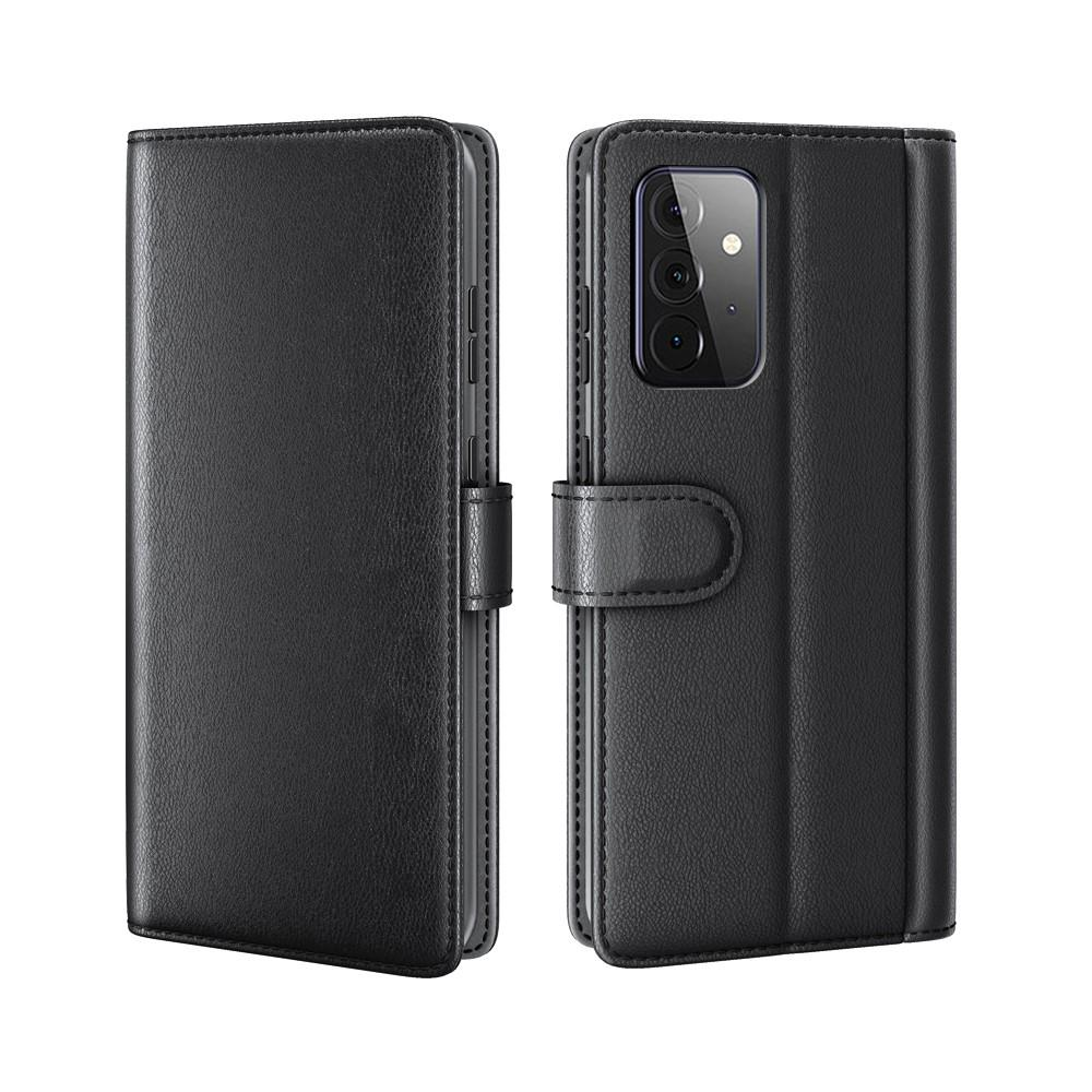 Ekte Lærveske Samsung Galaxy A72 5G svart