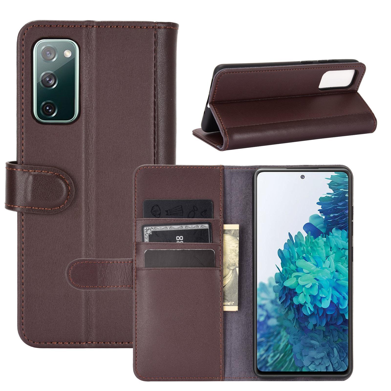 Ekte Lærveske Samsung Galaxy S20 FE brun