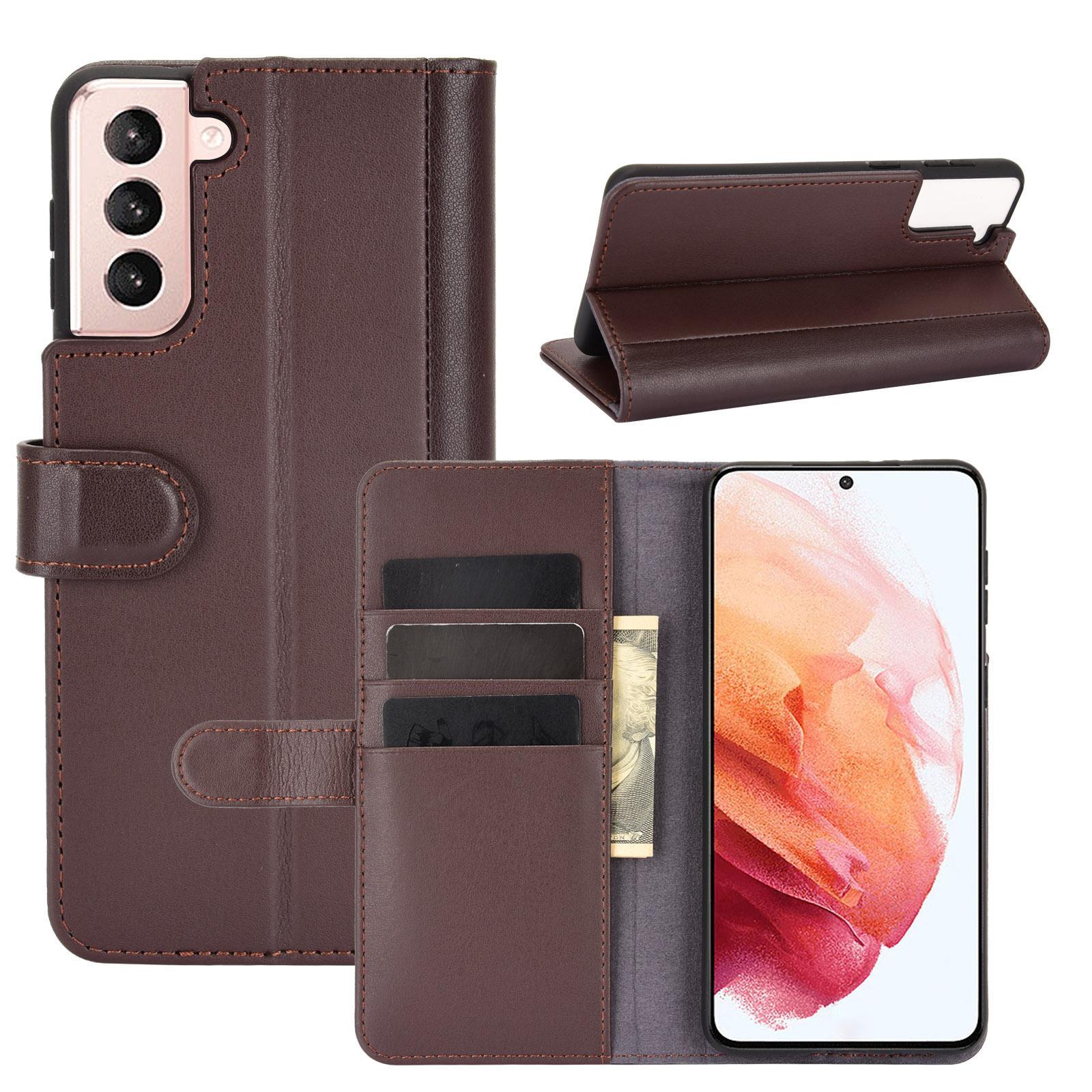 Ekte Lærveske Samsung Galaxy S21 brun