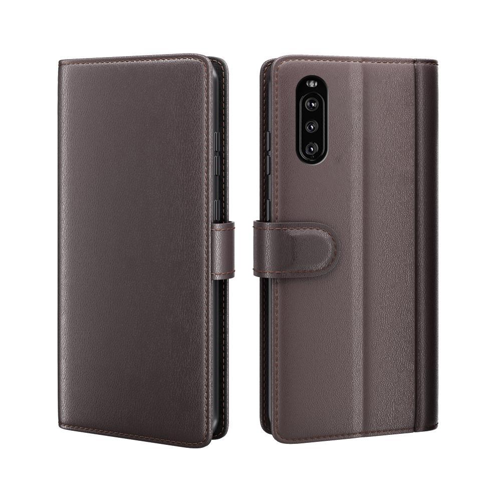 Ekte Lærveske Sony Xperia 10 III brun