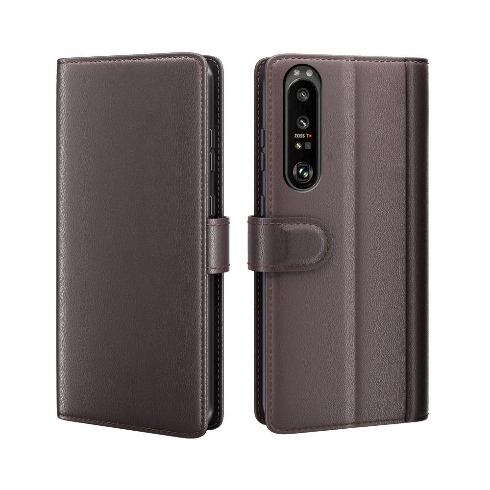 Ekte Lærveske Sony Xperia 1 III brun