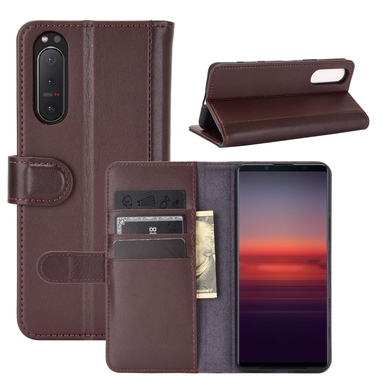 Ekte Lærveske Sony Xperia 5 II brun