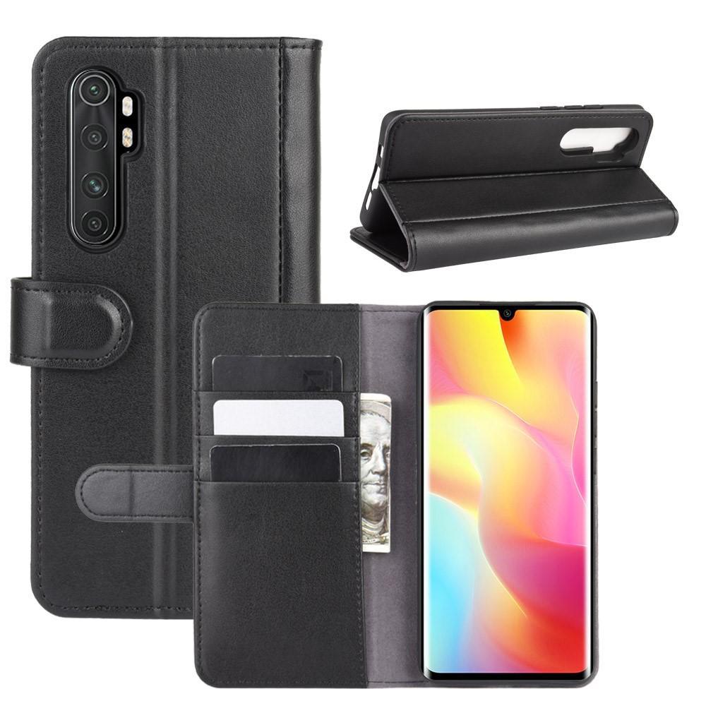 Ekte Lærveske Xiaomi Mi Note 10 Lite svart