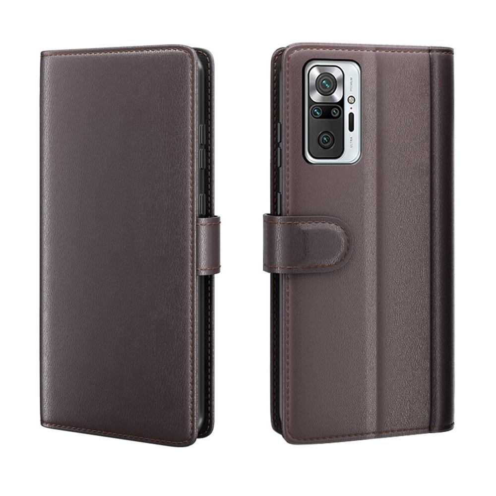 Ekte Lærveske Xiaomi Redmi Note 10 Pro brun