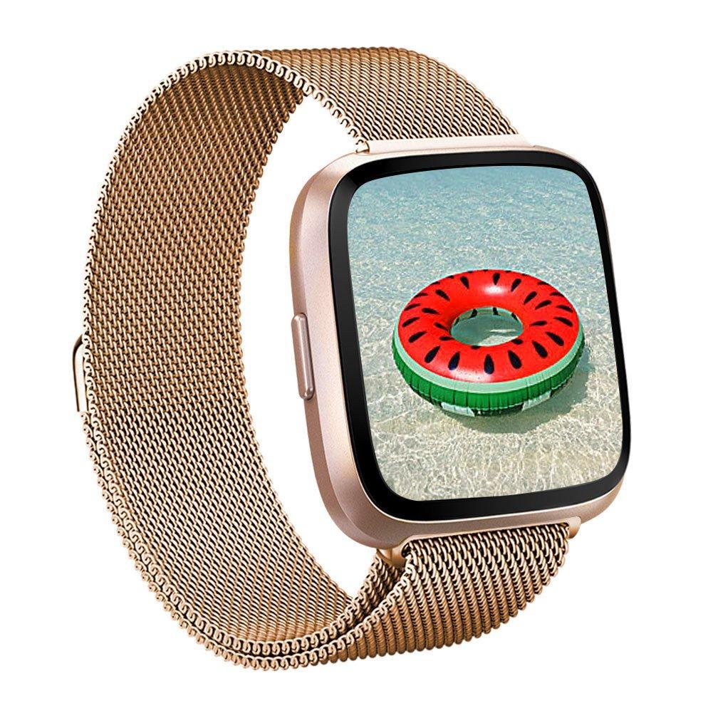 Armbånd Milanese Fitbit Versa 3/Sense rosegull